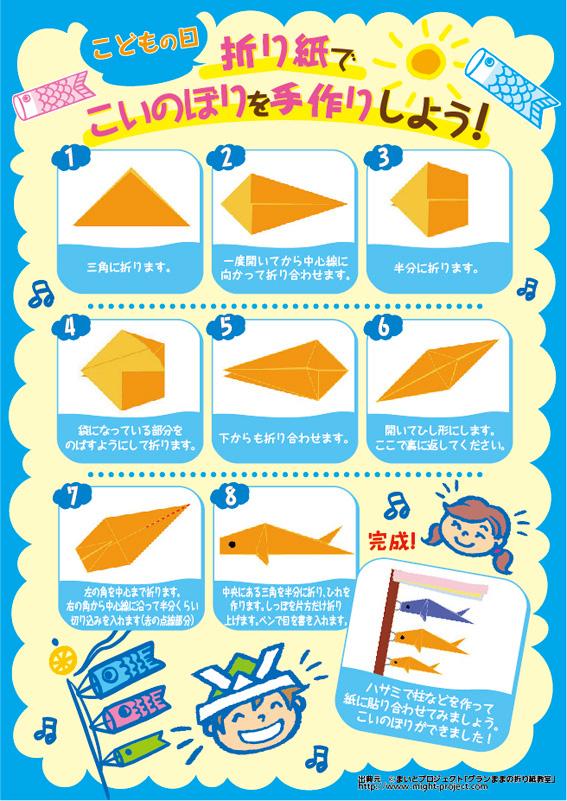折り紙 折り紙 鯉のぼり : ... 折り紙教室」から、こいのぼり
