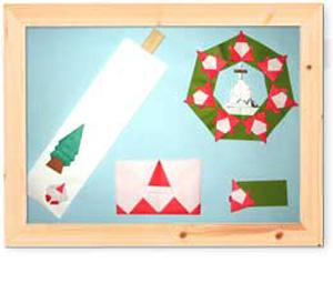 幼児 おりがみ 幼児 : 箸袋(箸入れ):クリスマス